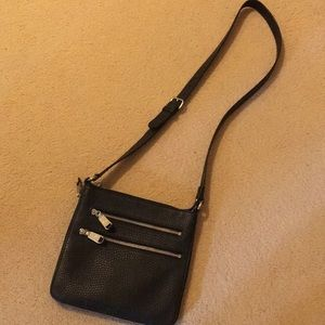 Cole Haan pebbled leather cross body bag